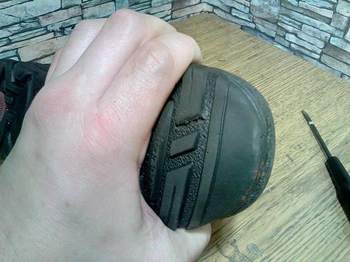 Почему нужно остерегаться нефтяных пятен. Ремонт обуви, Подошва, Моя интересная работа, Длиннопост