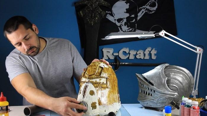 Шлем силовой брони T-51b из Fallout своими руками. Моделирование из стеклопластика Fallout, Своими руками, r-Craft, Шлем, Видео, Длиннопост