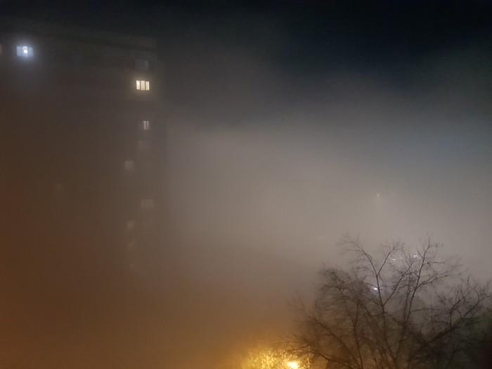 Сайлент хилл в Красноярске Красноярск, Туман, Вид из окна, Длиннопост