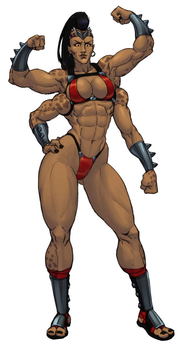 Sheeva Jiggeh, Арт, Крепкая девушка, Sheeva, Mortal Kombat, Monster Girl, Четыре руки