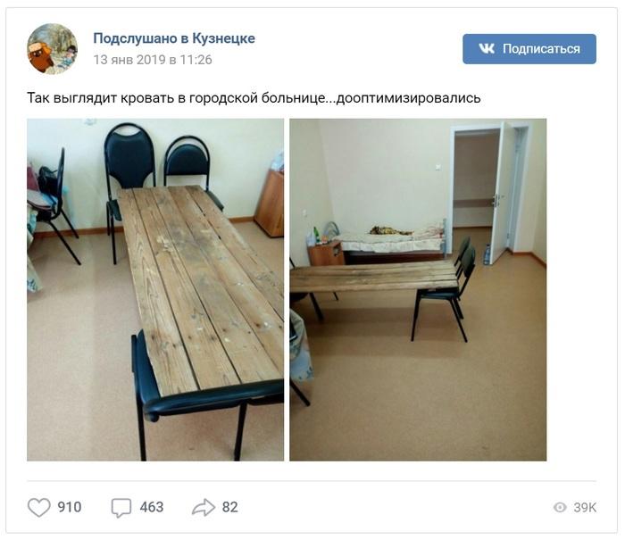 Пензенский губернатор пообещал закупить койки для больниц после фото кроватей из досок Общество, Россия, Минздрав, Пенза, Больница, Губернатор, Интерфакс, Социальные сети