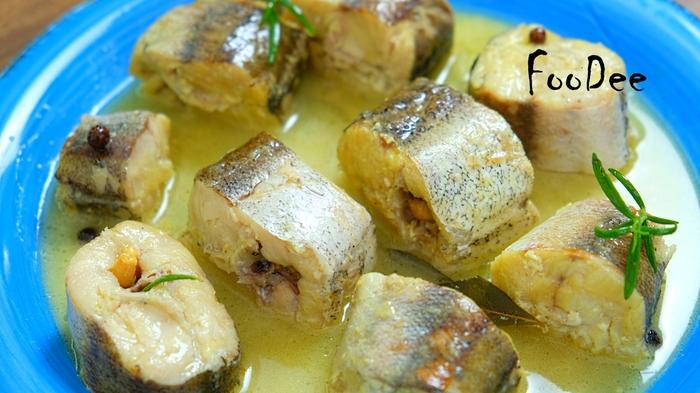 Нежный минтай (хек) в сливочно-луковом соусе Рыба, Минтай, Рецепт, Еда, Кулинария, Хек, Видео, Длиннопост