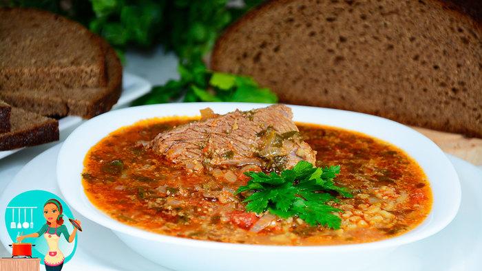 Суп харчо с говядиной и рисом Харчо, Суп, Видео рецепт, Рецепт, Видео, Длиннопост, Кулинария