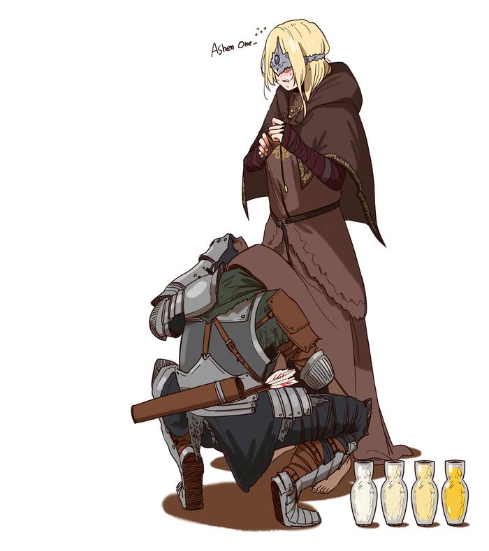 Art Huqu, Dark Souls, Fire Keeper, Ashen One, Dark Souls 3, Игры, Арт