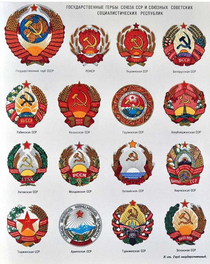 Государственные гербы СССР