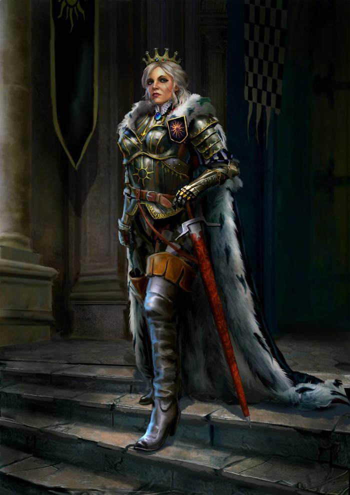 Cirilla. The Empress Of Nilfgaard by Yuri Platov Ведьмак, Цири, Нильфгаард, Арт, Yuri Platov, Юрий Платов