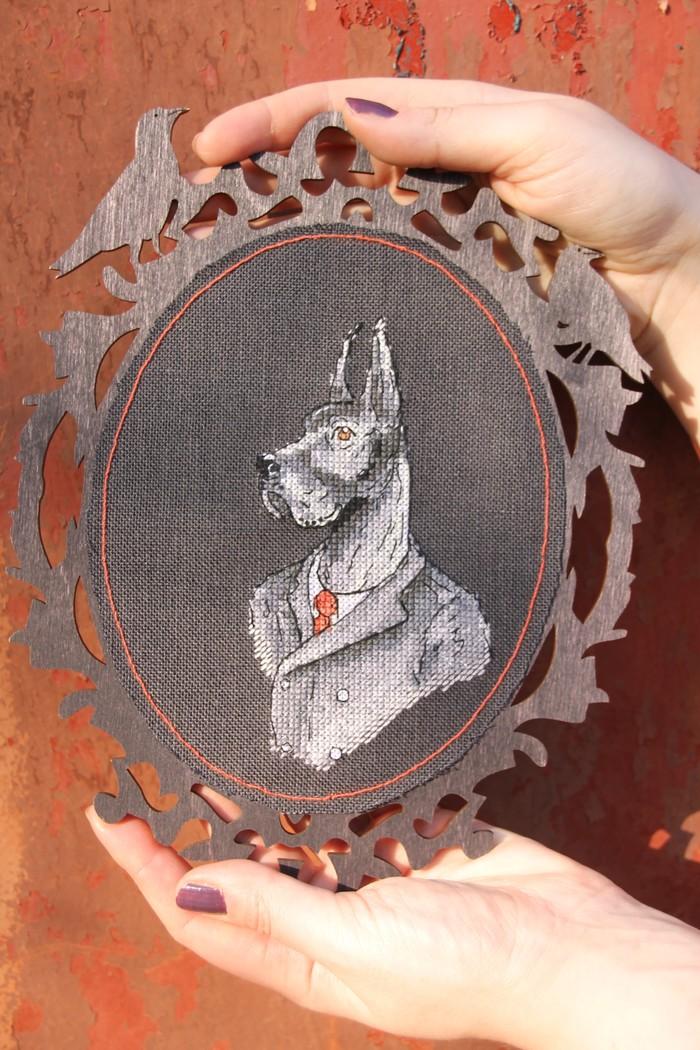 Dog. Mr Dog Вышивка, Рукоделие без процесса, Фотография, Длиннопост