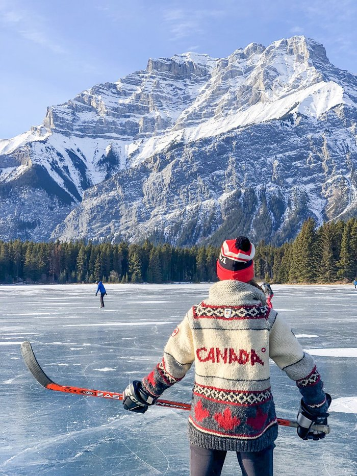 Вся Канада в одном фото Фотография, Пейзаж, Хоккей, Канада, Горы, Лёд, Зима, Красота