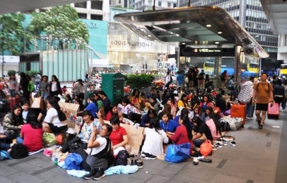 Самый грязный день - день филлипинских домработниц в Гонконге