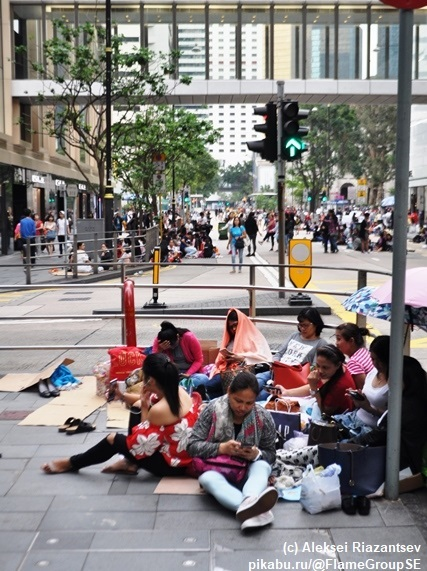 Самый грязный день - день филлипинских домработниц в Гонконге Китай, Китайцы, Гонконг, Выходные, Филиппины, Домработницы, Длиннопост