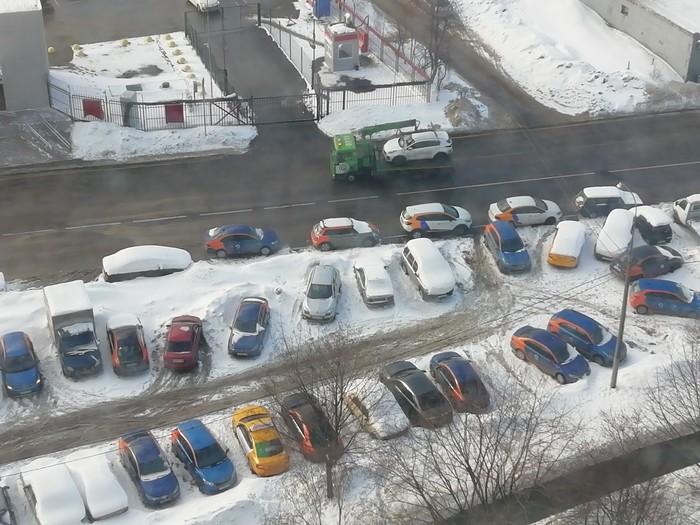 Приют каршеринга Каршеринг, Штрафстоянка