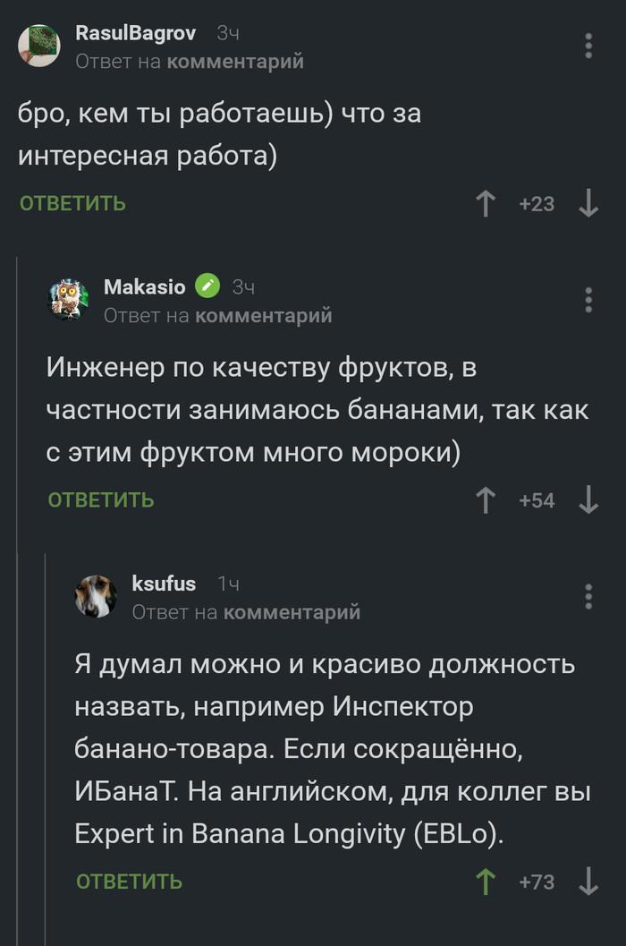 ИБанаТ или EBLo Комментарии на Пикабу, Банан, Скриншот