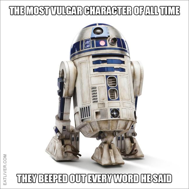 Самый вульгарный персонаж всех времен. Star Wars, R2d2, Мат