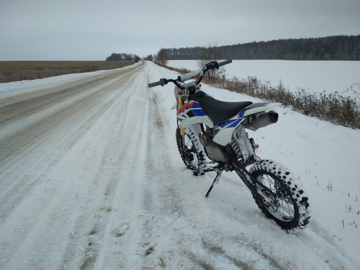 Зимние покатушки. Супер эмоции! Мотоциклы, Эндуро, Природа, Хобби, Длиннопост, Арт
