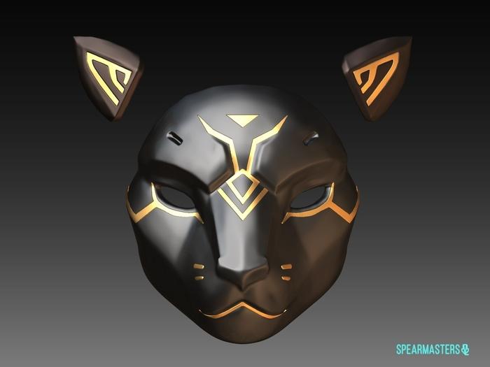 Как сделать маску bastet Аны Амари Overwatch, Маска, Косплей, Ana Amari, Bastet, 3D печать, Длиннопост