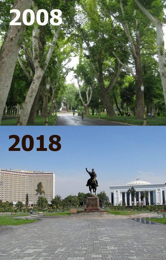 #10yearschallenge: Ташкент. Или что осталось от нашего города Узбекистан, Ташкент, Средняя Азия, СНГ, 10yearschallenge, Вырубка, Спиленные деревья
