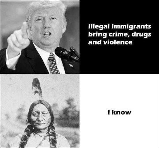 Я знаю Америка, Индейцы, Иммигранты, Из сети