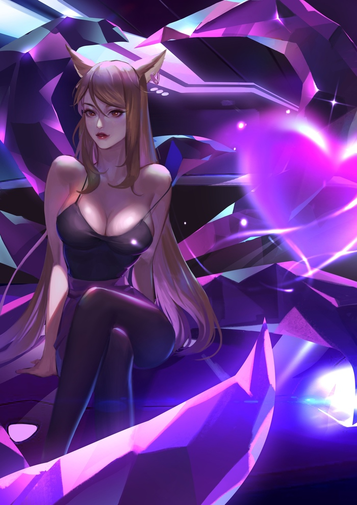 Ahri Art Арт, League of Legends, Ahri, Kda, Девушки