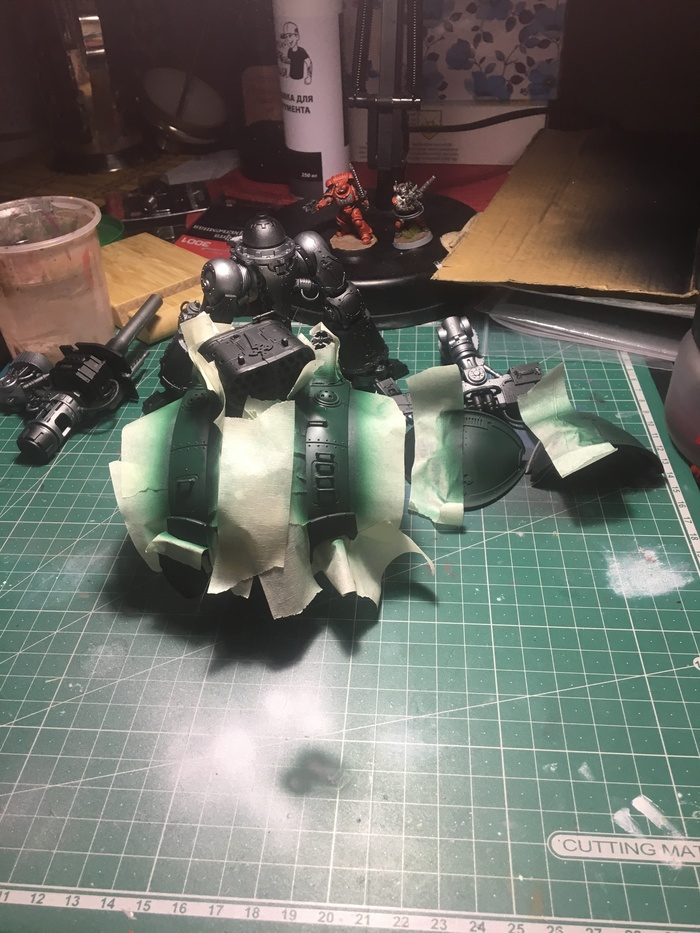 Imperial knight WIP Imperial Knight, Покраска миниатюр, Процесс, Длиннопост