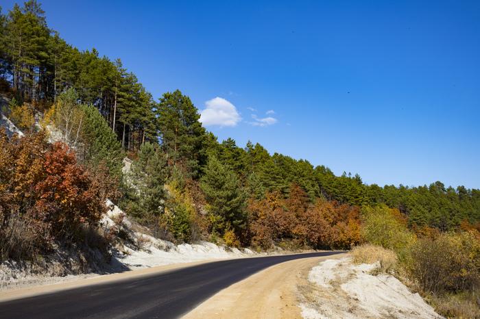 Осенняя дорога Амурская область, Дорога, Осень, Свобода, Canon 200D