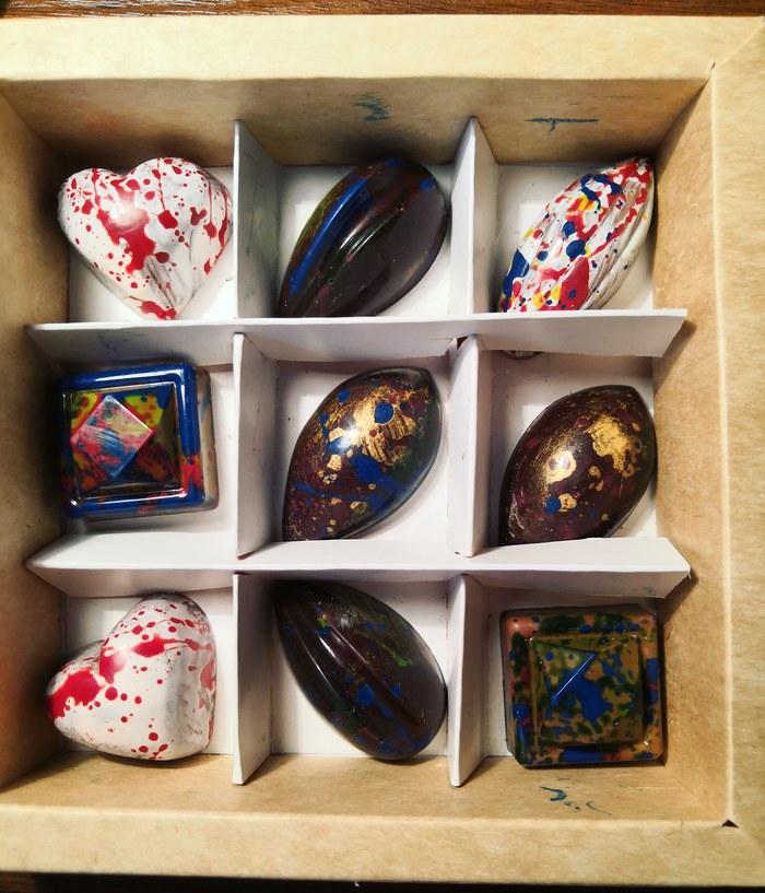 Шоколадные конфеты ручной работы Конфеты, Шоколад, Ручная работа, Кулинария