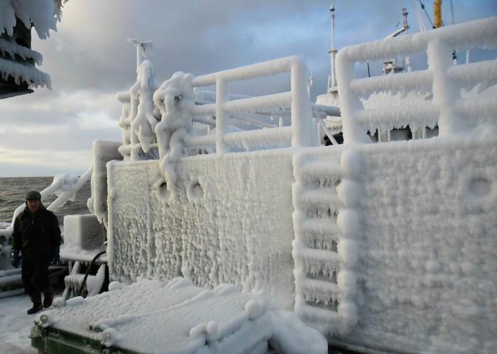 Как ледяной ветер топит корабли? Обледенение, Корабль, Море, Зима, Опасность, Русский север, Длиннопост