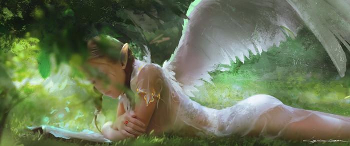 Angel Арт, Ангел, Девушки
