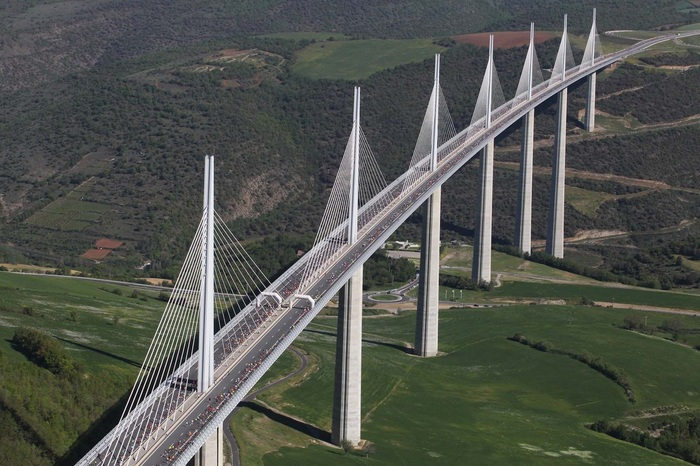 Как строили Виадук Мийо - самый высокий мост в мире Мост, Франция, Длиннопост, Как это сделано