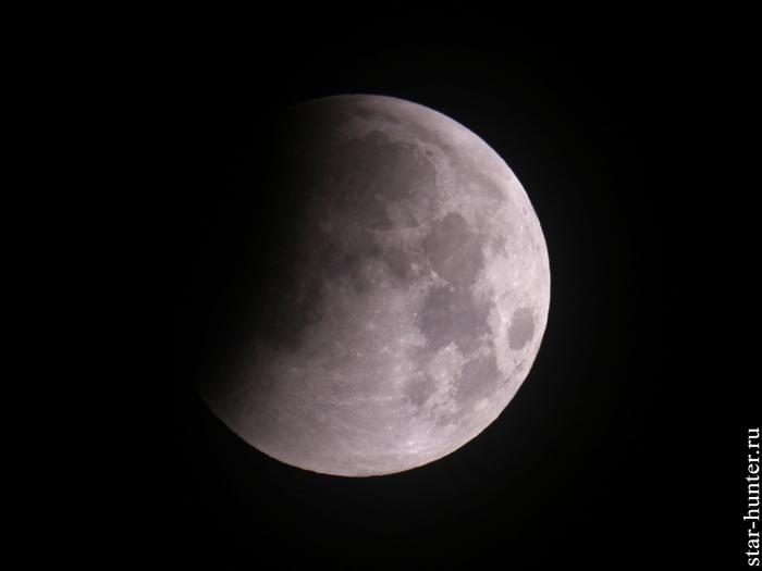 Лунное затмение. 21 января 2019 года, 06:49 Луна, Лунное затмение, Астрофото, Астрономия, Космос, Starhunter, Анападвор