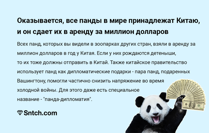 Пандономика Панда, Китай, Дипломатия