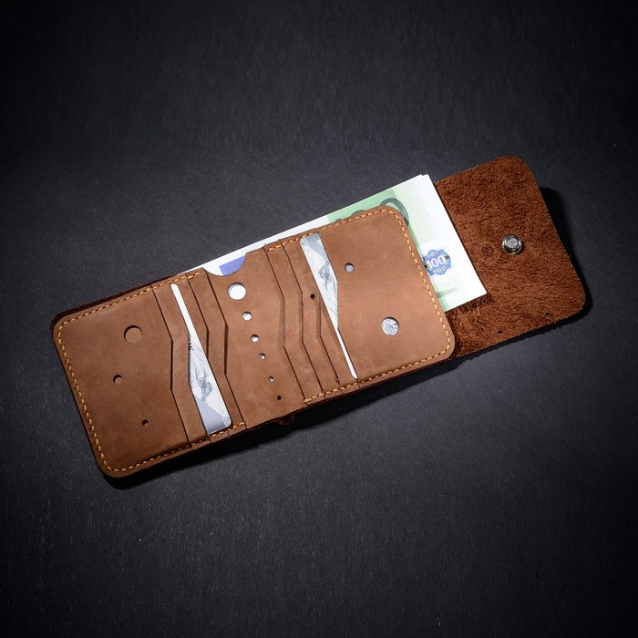 Кожаный кошелек Кожа, Изделия из кожи, Кожевенное ремесло, Рукоделие без процесса, Своими руками, Длиннопост, Лига Лени