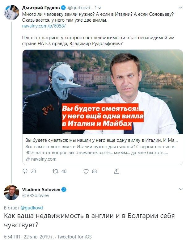 Битва недвижимостей ) Политика, Соловьёв, Гудков, Недвижимость за рубежом, Twitter