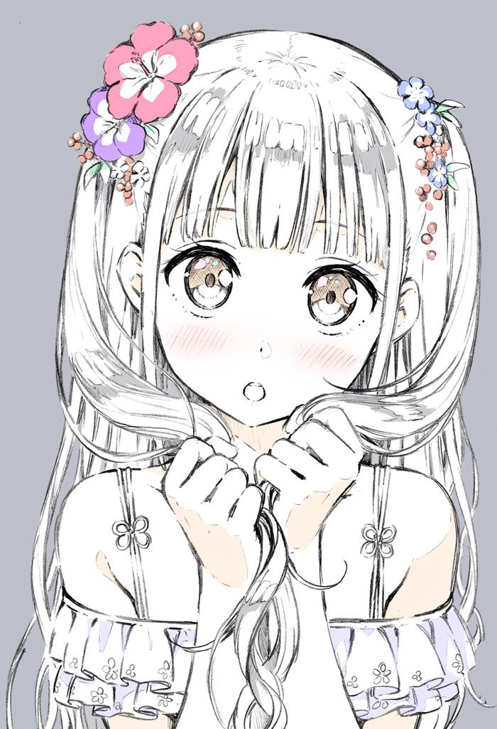 Kantoku art Kantoku, Аниме, Anime Art, Anime Original, Loli, Панцу, Animal Ears, Подборка, Длиннопост