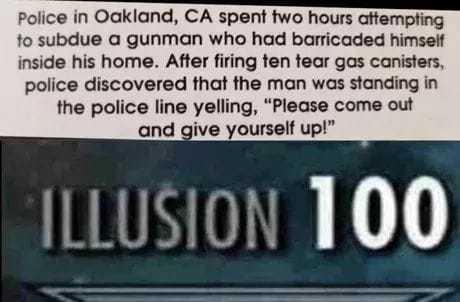 Master of illusion США, Полиция, Скрытность, Троллинг, Слезоточивый газ
