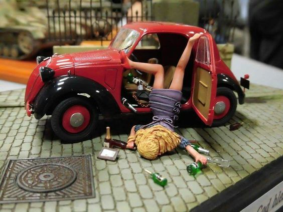 Фуршет удался Стендовый моделизм, Девушки, За рулем, Под шафе, Диорама, Фотография