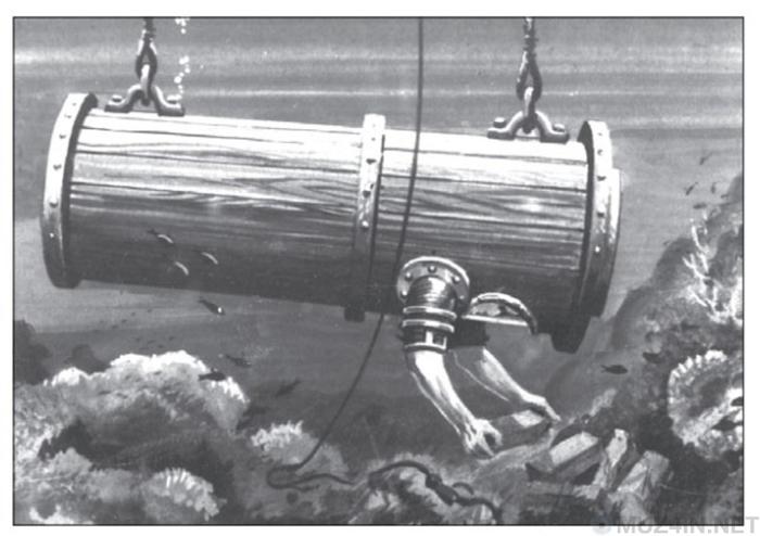 Приспособление для подводного плавания Джона Летбриджа. Джон Летбридж, Англия, Изобретатели, Машина для погружения под воду, 17-й век, Длиннопост
