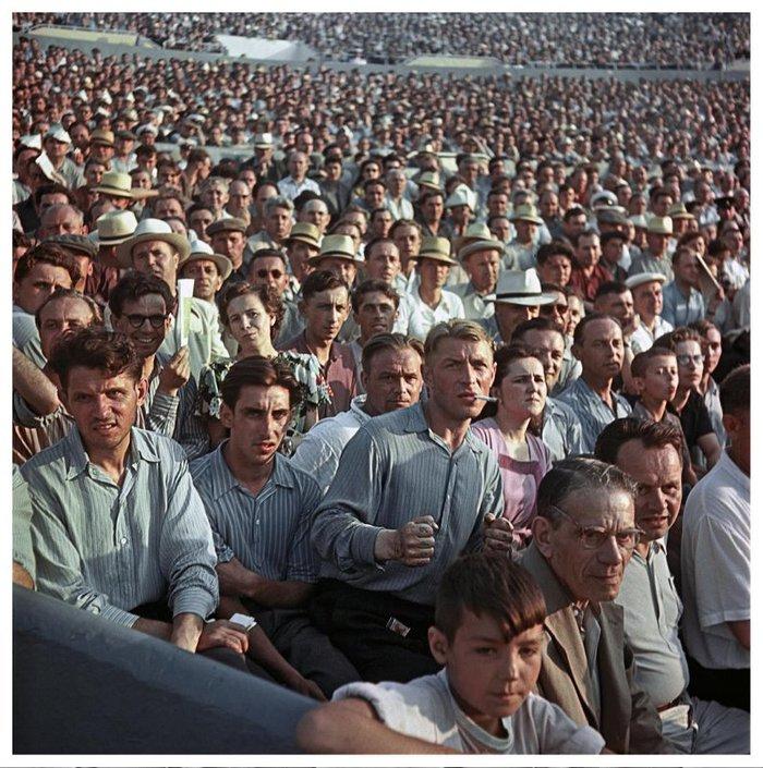 Боря Болельщики, СССР, Стадион, Старое фото