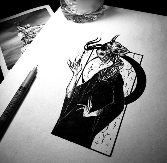 Немного моих эскизов Тату, Эскиз, Графика, Эскиз татуировки, Иллюстрации, Рисунок, Длиннопост