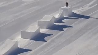 Идеальные покатушки на сноуборде илиGravity Defied в реальности Сноуборд, Катание, Интересное, Гифка