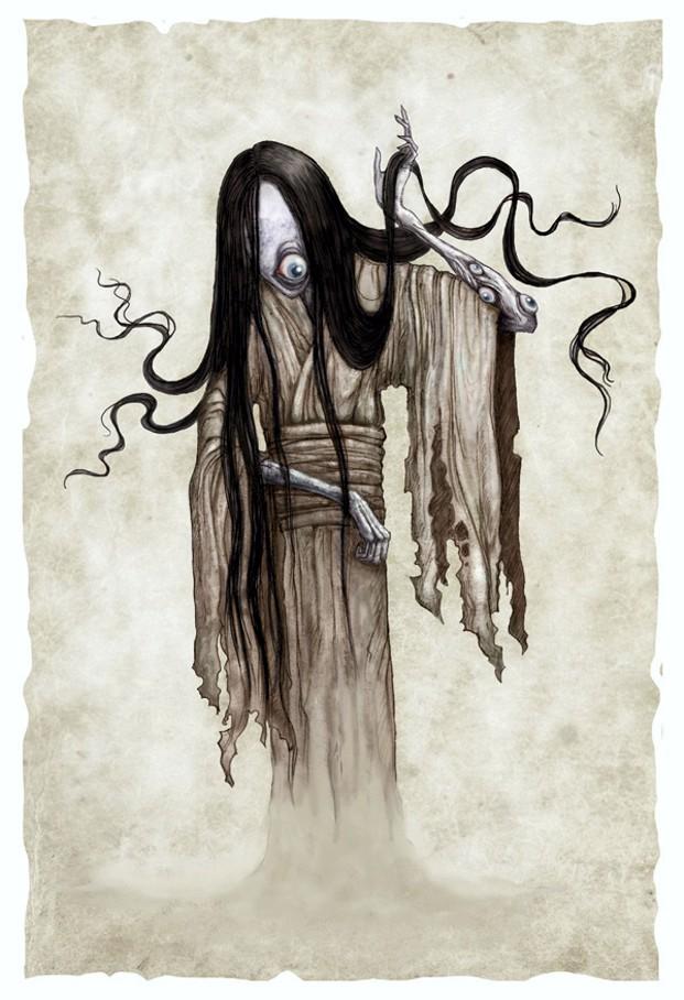 ЮРЭИ. Сексистский призрак умершего человека в японской мифологии Япония, Фольклор, Японские сказки, Страшные истории, Длиннопост
