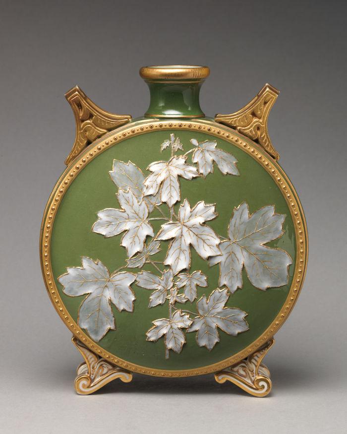 Moon flask Фарфор, Ваза, 19 век, Дпи, Длиннопост