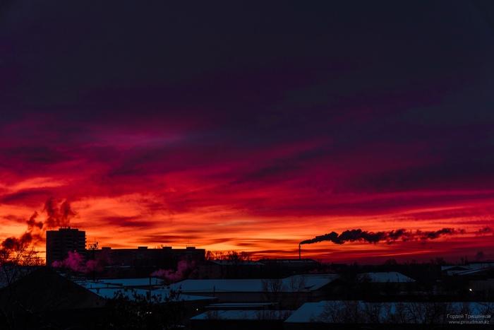 Город просыпается Nikon, Фотография, Рассвет, Утро, Уральск