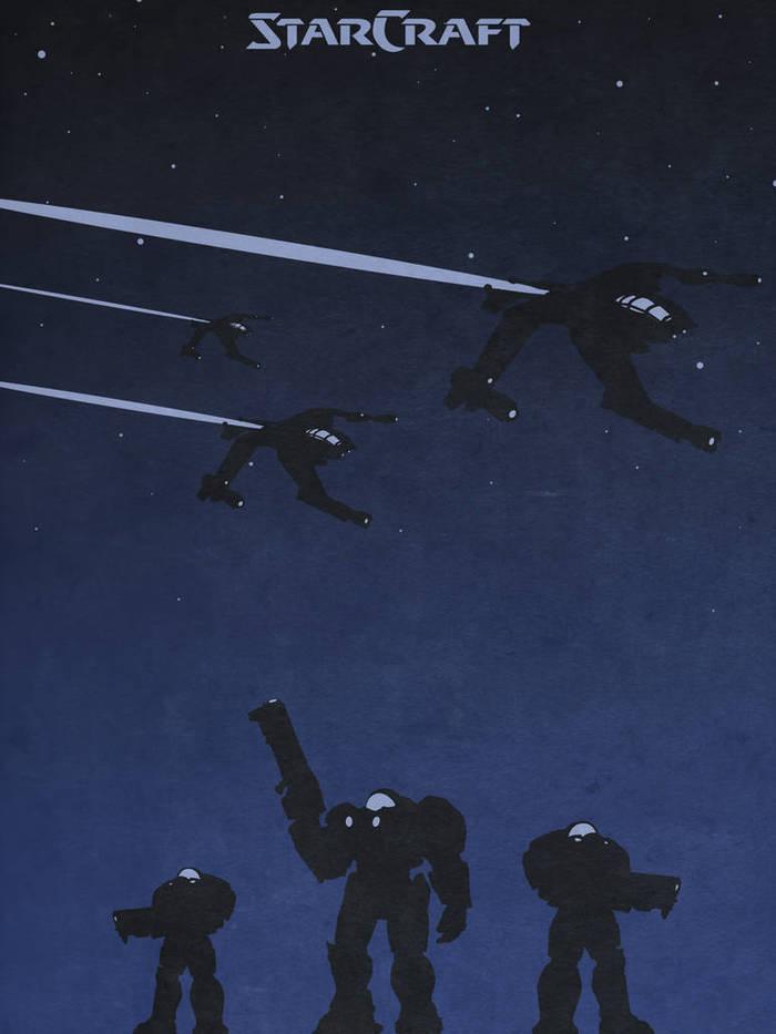 Серия минималистичных постеров по StarCraft 2 Starcraft, Starcraft 2, Blizzard, Постер, Минимализм, Зерги, Протоссы, Терраны, Длиннопост