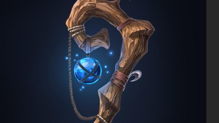 Палочка. 5й рисунок в CG Game Art, Рисунок, Photoshop, Staff, Посох, Длиннопост, Цифровой рисунок, Волшебная палочка