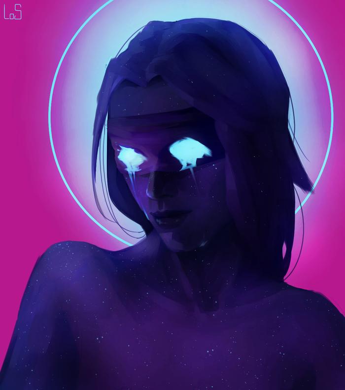 Девушка в ультрафиолете