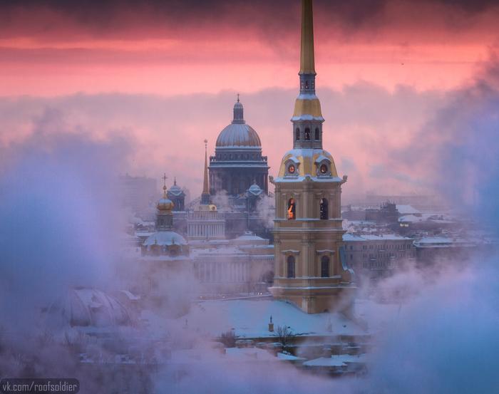 Морозы в Санкт-Петербурге Алексей Голубев, Фотограф, Фотография, Санкт-Петербург, Мороз, Руферы, Урбанфото