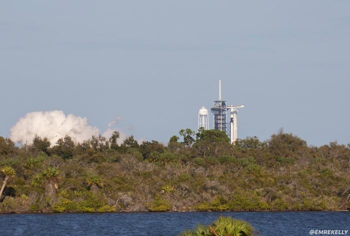 В четверг прошли огневые испытания ракеты Falcon 9 для тестового полета Crew Dragon Spacex, Crew Dragon, Тест, Подготовка, Пилотируемые полеты, NASA, Космос, Техника, Длиннопост