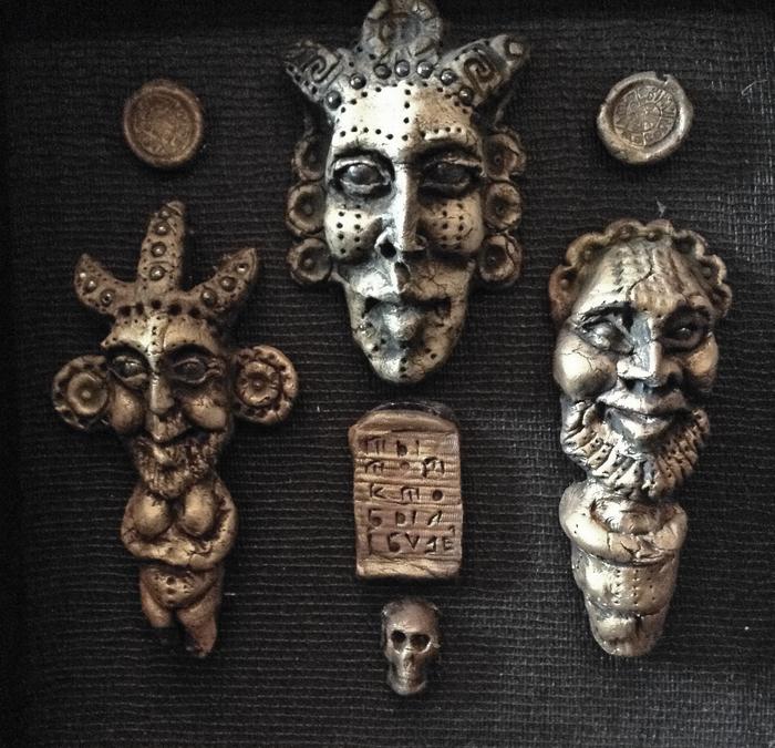 Хранители домашнего очага Глина, Керамика, Маски, Статуэтка, Искусство, Лицо, Длиннопост