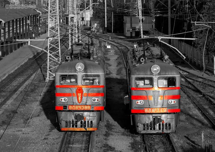 ВЛ8 Вл8, Электровоз, Photoshop, Станция, Славянск