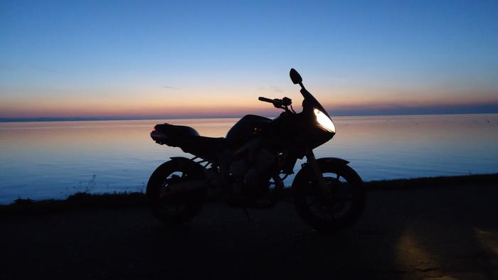 Рассвет на двух колёсах... Рессвет, Красота, Покатушки, Fazer, Yamaha, Длиннопост